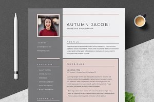 Resume / CV Template 3 Page
