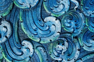 art of cement wave of Colorful