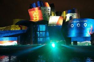 Light show at Guggenheim Museum