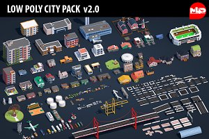 Low Poly City Pack v 2.0
