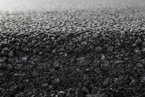 Close-up on a layer of new asphalt