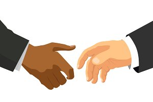 Handshake concept illustration