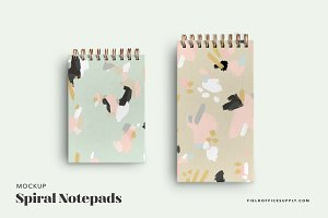 Spiral Notebook Set Mockup