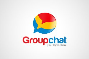 Group Chat - Talk Logo Template