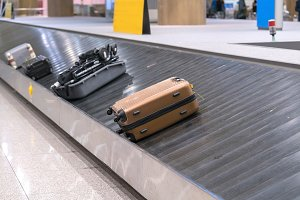 Suitcase or luggage in ariport