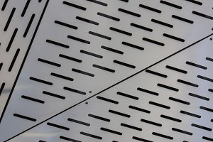 Metal shapes with line notches