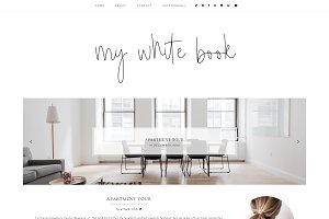 My white book - Blogger Template
