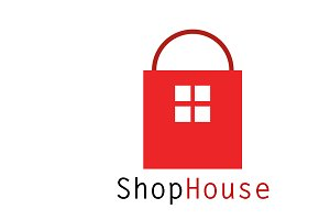 Shop House Logo Template