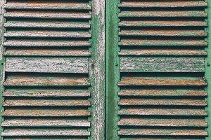 Old wooden window background