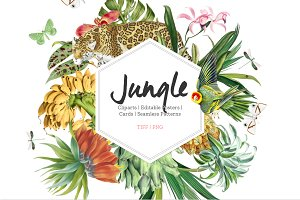 Jungle, Luxurious Cliparts & more!