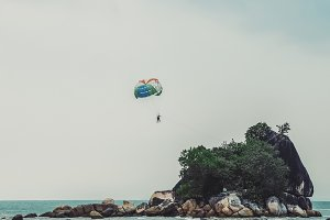Tropical parachuting
