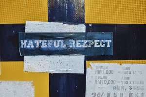 Hateful Respect Sticker
