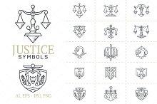 Justice Symbols Vector Set