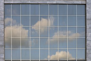 glass window architecture build