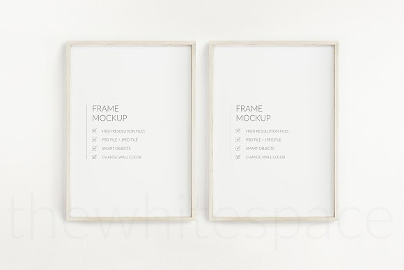 Poster Frame Mockup - Double