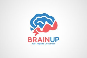 Brain up Logo Template