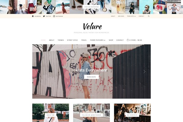 WordPress Blog Themes: WPZOOM - Velure - Fashion Blog WP Theme