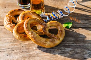 Beer and pretzels, Oktoberfest party