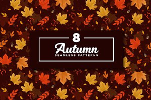 Autumn Seamless Pattern Collection