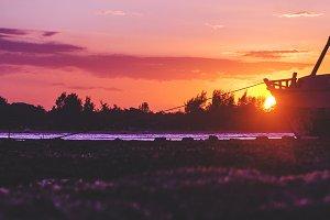 Dramatic Purple Sunset