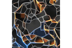Abstract 3d rendering of chaotic