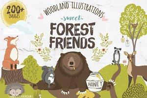 Woodland Animal ClipArt Graphics