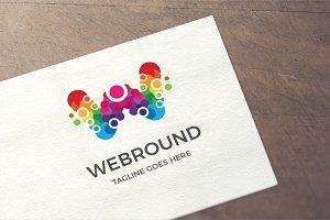 Letter W - Web Round Logo