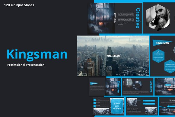 kingsman premium powerpoint template presentation templates