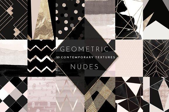 Geometric Watercolor Foil Textures