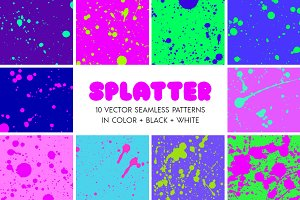 Splatter Spray Seamless Patterns