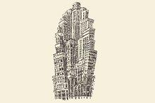 Big city architecture, skyscrapers