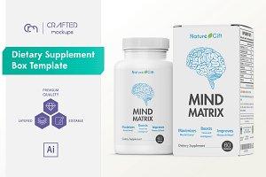 Dietary Supplement Box Template