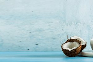 banner of natural, homemade coconut