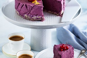 classic blueberry lemon cheesecake o