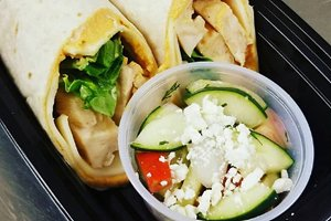 Chicken Hummus Wrap With Cucumber