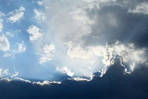 Blue dramatic sky with clouds