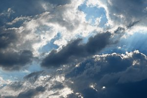 Picturesque sky with clouds