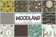 Woodland Seamless Pattern Repeats