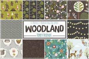 Woodland Seamless Pattern Repeats