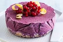 frozen blueberry lemon cake from ice by  in Food & Drink