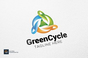 Green Cycle - Logo Template