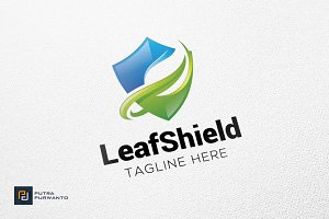 Leaf Shield - Logo Template