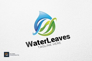 Water Leaves - Logo Template