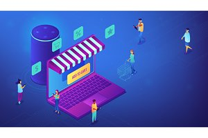 Isometric online shopping and smart