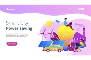 Smart city and power saving landing