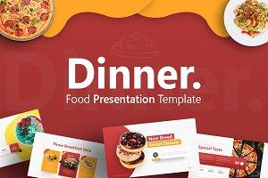Dinner - Food Presentation Template