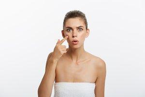 Acne spot pimple spot skincare