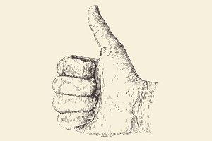 Thumb up illustration (like)