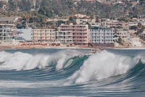 Summer waves in California