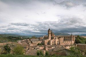 Old Urbino, Italy, Cityscape at Dull